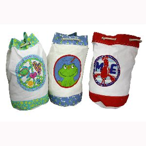 Canvas Eco-friendly Children Rope Drawstring Backpack