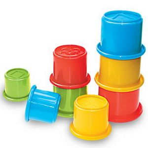 educational toy/plastic toy/stacking cup toy